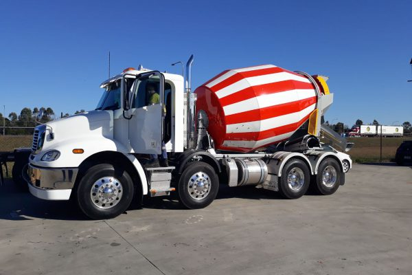 Cement truck relocation