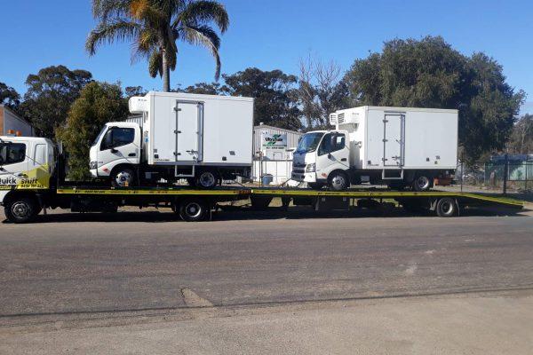 Trucks on Car Transporter