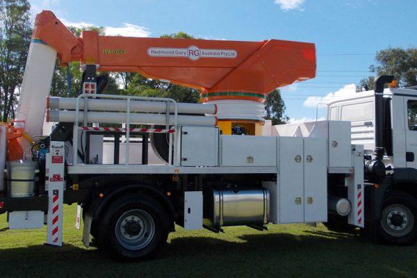 White Crane Truck