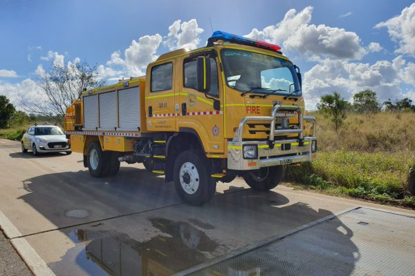 Yellow Fire Truck Relocation